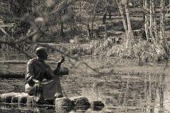 El hombre de la meditación Imagenes de archivo