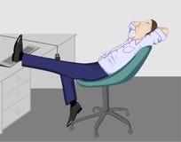 El hombre de la oficina que se relaja Fotografía de archivo libre de regalías