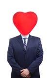 El hombre de la tarjeta del día de San Valentín Foto de archivo libre de regalías