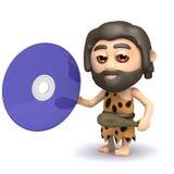 el hombre de las cavernas 3d tiene un DVD Imagen de archivo libre de regalías