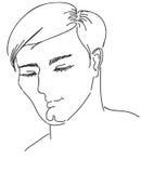 El hombre de mirada agradable en un vector ilustración del vector