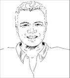 El hombre de mirada agradable está sonriendo Fotografía de archivo libre de regalías