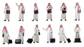 El hombre de negocios árabe aislado en blanco foto de archivo libre de regalías