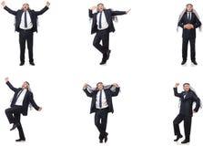 El hombre de negocios árabe en el traje aislado en blanco fotos de archivo