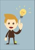 El hombre de negocios consigue la idea libre illustration