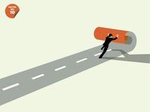 El hombre de negocios crea para poseer manera al éxito libre illustration