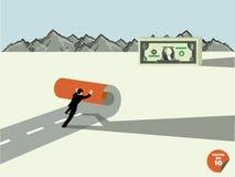 El hombre de negocios crea para poseer manera al dinero del dólar libre illustration
