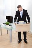 El hombre de negocios dejected hizo redundante Fotos de archivo