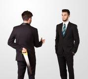 El hombre de negocios dos sacude las manos Fotografía de archivo