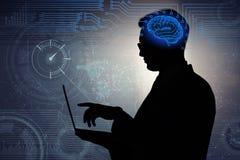 El hombre de negocios en concepto de la inteligencia artificial fotografía de archivo libre de regalías