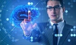 El hombre de negocios en concepto de la inteligencia artificial imagen de archivo libre de regalías