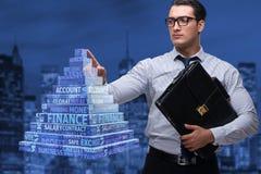 El hombre de negocios en concepto del esquema del ponzi Imagen de archivo