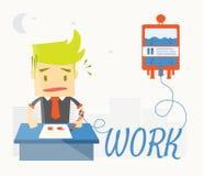 El hombre de negocios está enfermo en oficina libre illustration