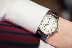 Reloj del hombre de negocios Imagen de archivo