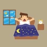 El hombre de negocios estaba despierto libre illustration