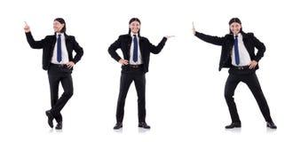 El hombre de negocios joven aislado en blanco fotografía de archivo