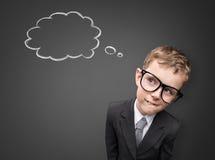 El hombre de negocios joven tiene una idea Imagen de archivo libre de regalías