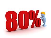 El hombre de negocios ofrece un porcentaje 80 Imagen de archivo