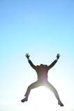 Hombre de negocios en la luz del sol Imagen de archivo libre de regalías