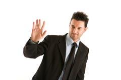 El hombre de negocios saluda Fotos de archivo libres de regalías