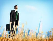 El hombre de negocios Vision Thinking Planning presiona concepto Imágenes de archivo libres de regalías