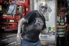 El hombre de plata Foto de archivo libre de regalías