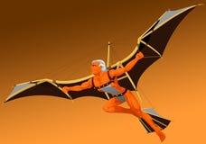 El hombre de vuelo Imagenes de archivo