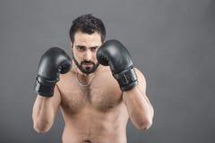 El hombre del boxeador Fotos de archivo