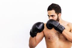 El hombre del boxeo imágenes de archivo libres de regalías