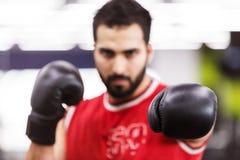 El hombre del boxeo imagen de archivo libre de regalías