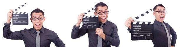 El hombre divertido con la chapaleta de la película Imagenes de archivo