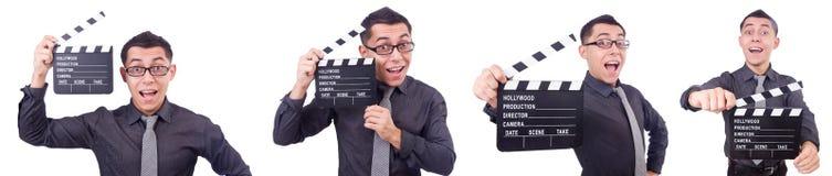 El hombre divertido con la chapaleta de la película Fotos de archivo