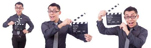 El hombre divertido con la chapaleta de la película Fotografía de archivo