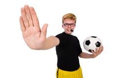 El hombre divertido en concepto de los deportes fotos de archivo