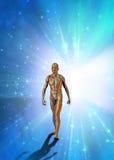 El hombre emerge de luz libre illustration