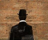 El hombre en el sombrero Imagen de archivo libre de regalías