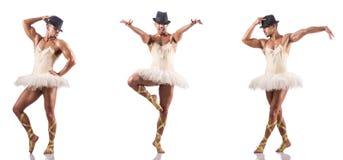 El hombre en tutú del ballet Imagenes de archivo