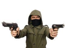 El hombre enmascarado en concepto criminal imagenes de archivo