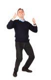 El hombre joven da gesto Imagen de archivo libre de regalías