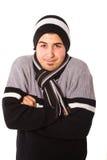 El hombre joven está congelando Fotografía de archivo libre de regalías