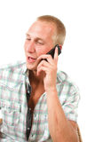 El hombre joven está llamando imagen de archivo libre de regalías