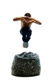 El hombre joven salta Fotos de archivo libres de regalías