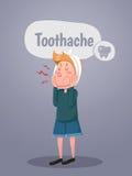 El hombre joven sufre del dolor del diente ilustración del vector