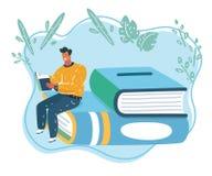El hombre ley? el libro ilustración del vector