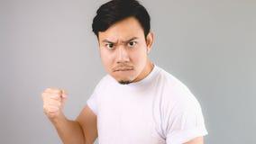 El hombre listo para luchar el problema Foto de archivo libre de regalías