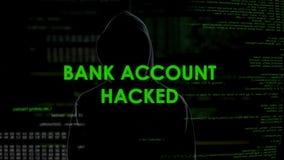 El hombre malvado del genio cortó la cuenta bancaria, transferencia de fondos ilegal, blanqueo de dinero almacen de video