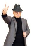 El hombre muestra gesto Fotos de archivo libres de regalías