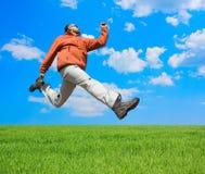 El hombre salta Fotografía de archivo libre de regalías