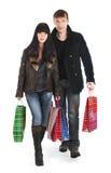 El hombre y la mujer - compras Fotografía de archivo