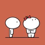El hombre y la mujer lindos tienen una lucha libre illustration
